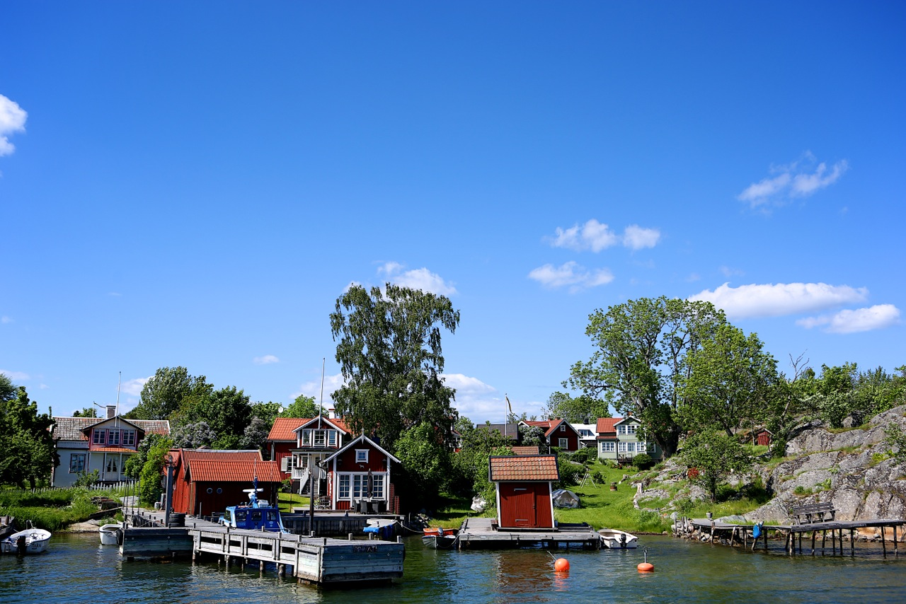 """I pittoreska Berg finns både turistbyrån och hembygdsmuseet, så jag gissar att man kan kalla det för Möjas """"centrum""""."""